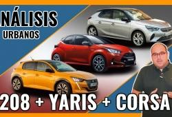 Comparativa Peugeot 208, Toyota Yaris y Opel Corsa, tres utilitarios llamados a liderar (Con vídeo)