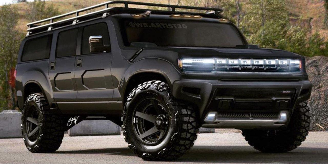 Primeros renders del futuro GMC Hummer en formato SUV