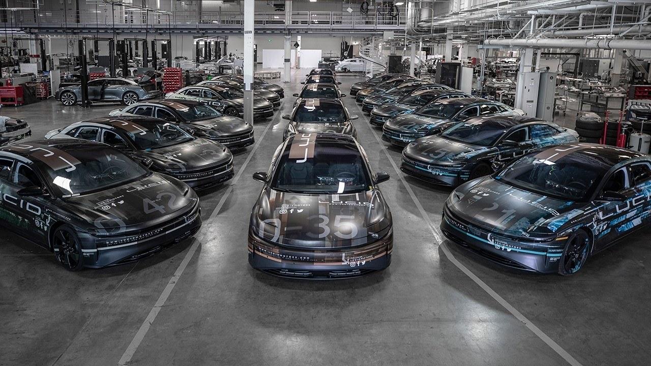 Lucid Motors muestra la flota de prototipos Beta del nuevo eléctrico [vídeo]