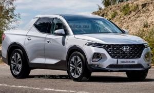 Nuevas recreaciones del Hyundai Santa Cruz 2021 muestran su frontal