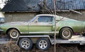 Rescatan un Shelby GT500 que llevaba 40 años abandonado en un granero