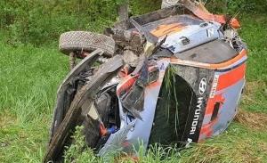 Accidente de Thierry Neuville en el regreso a los test de Hyundai