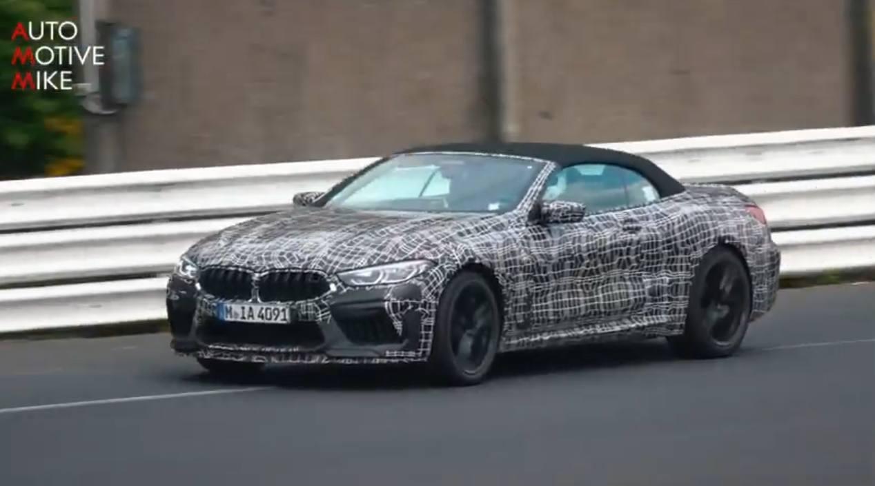 ¿Qué está probando BMW con este prototipo del M8 Cabrio en Nürburgring?