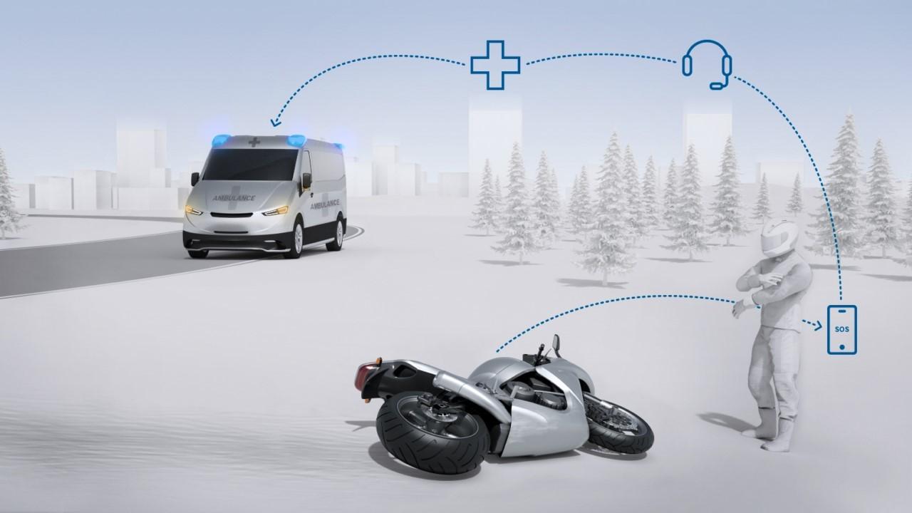 Bosch presenta la llamada de emergencia eCall para motos