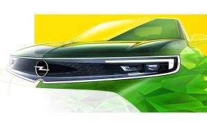 El frontal del nuevo Opel Mokka parcialmente al descubierto en este teaser