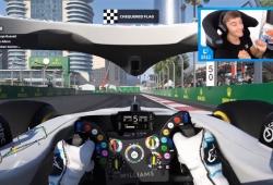 Tercera victoria virtual consecutiva para Russell en el GP de Azerbaiyán