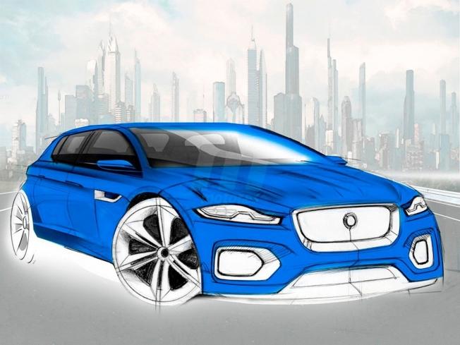 Boceto de un Jaguar compacto