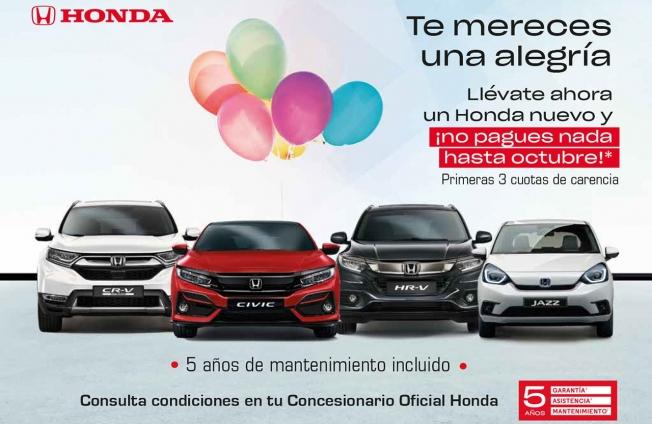 Ofertas en la compra de coches nuevos Honda