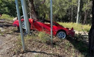 Destrozan un Ferrari F40 en Australia y ya van dos en el último medio año