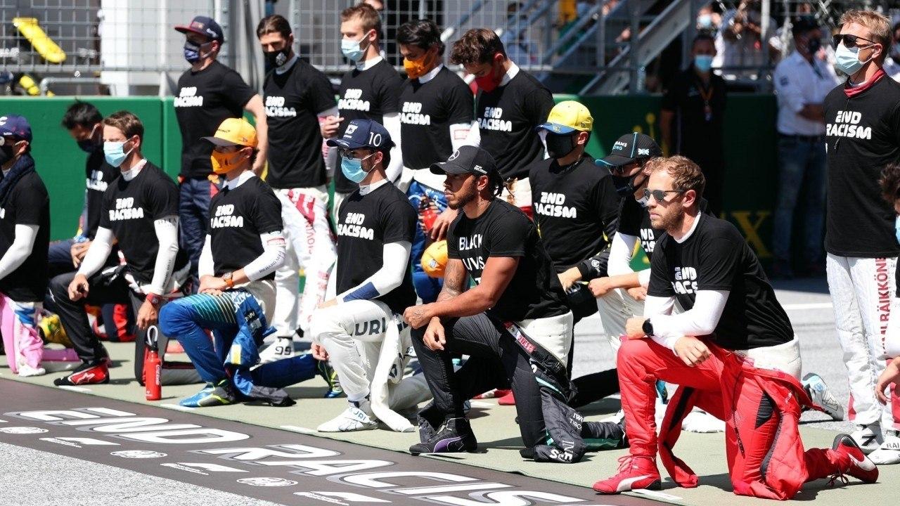 Hamilton, molesto con la F1 y los pilotos que no se arrodillan contra el racismo