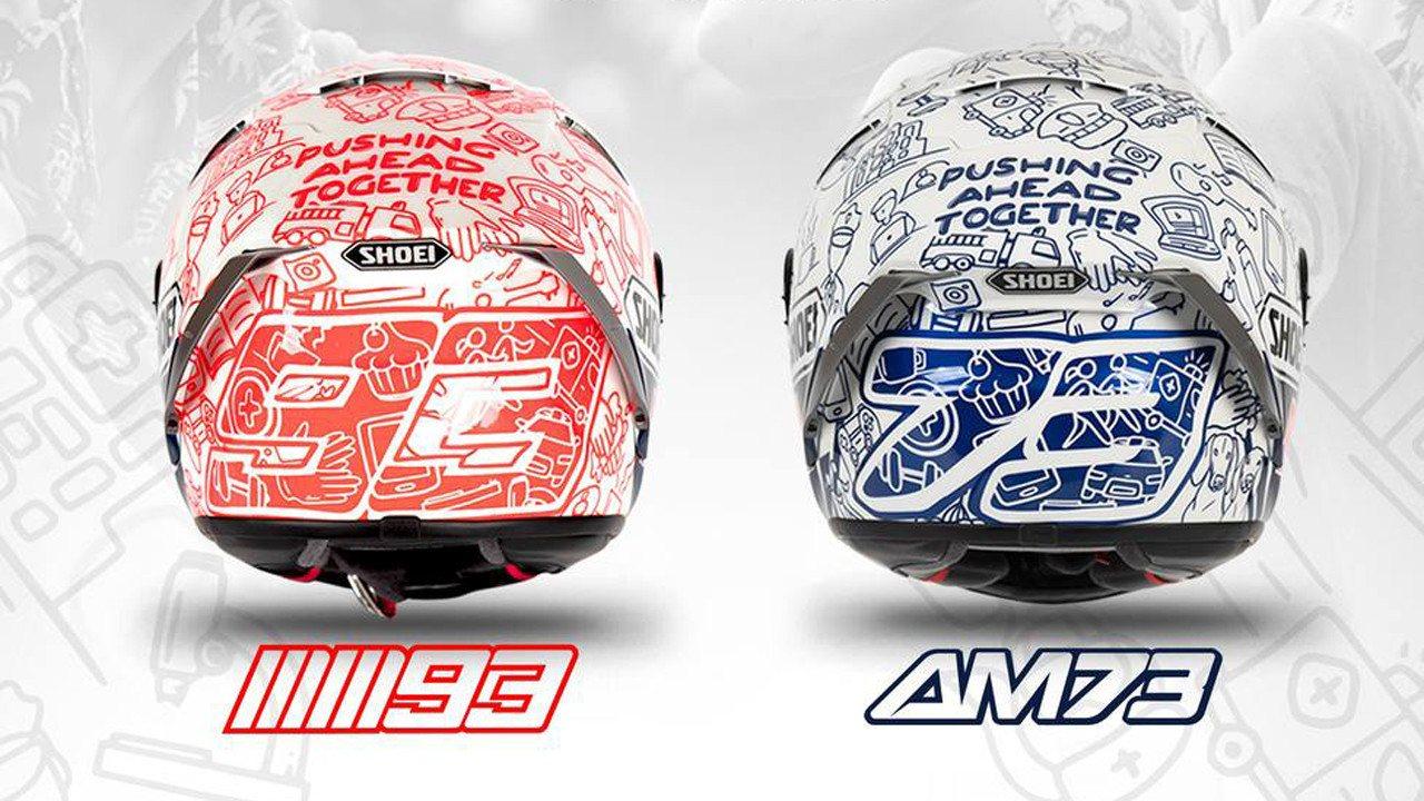 Los hermanos Márquez lucirán un casco solidario en el inicio de MotoGP
