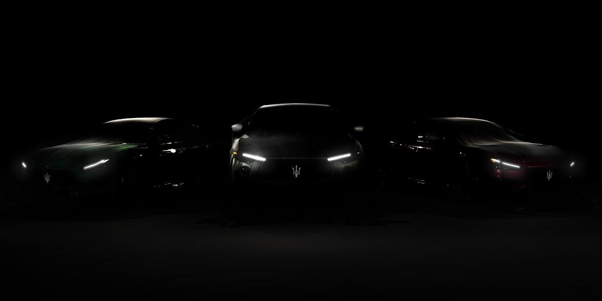 Maserati anuncia un teaser de los nuevos Ghibli, Quattroporte y Levante Trofeo