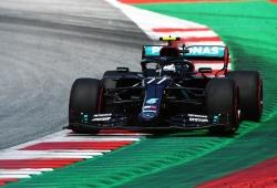 Valtteri Bottas, primer poleman de 2020 sobre Hamilton