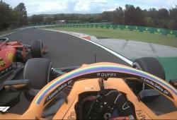 Sainz vs Leclerc: vídeo del genial duelo entre futuros compañeros en Ferrari