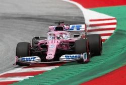 Sergio Pérez lleva al 'Mercedes rosa' a lo más alto de los primeros libres de Estiria