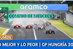 [Vídeo] Lo mejor y lo peor del GP de Hungría de F1 2020