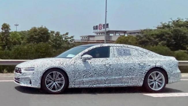 Audi A7 L Sportback - foto espía lateral