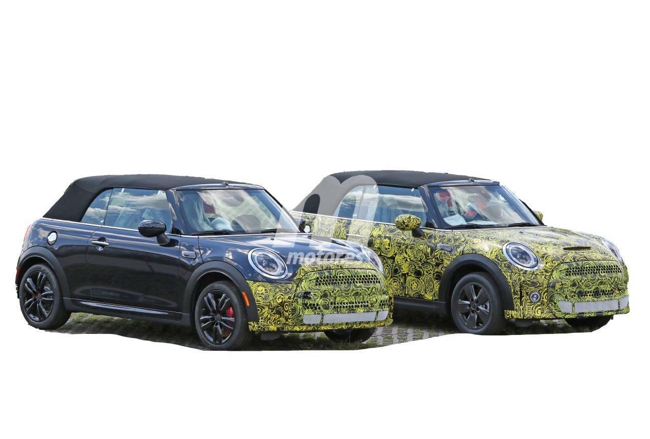 Avistado el facelift de los MINI Cooper S JCW Cabrio, mínimos cambios para 2021