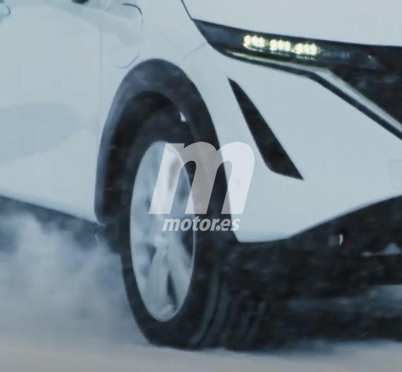 El Nissan Ariya se filtra parcialmente en un nuevo teaser previo al debut mundial