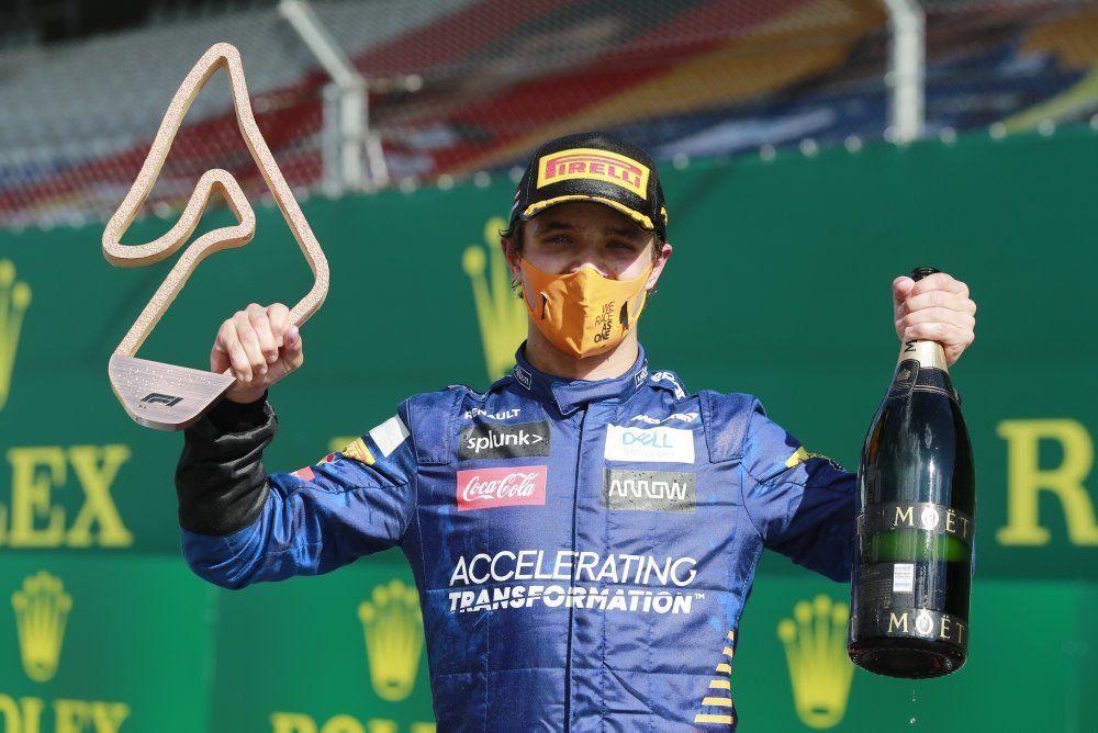 Primer podio de Norris en F1: «Estoy orgulloso de formar parte de McLaren»