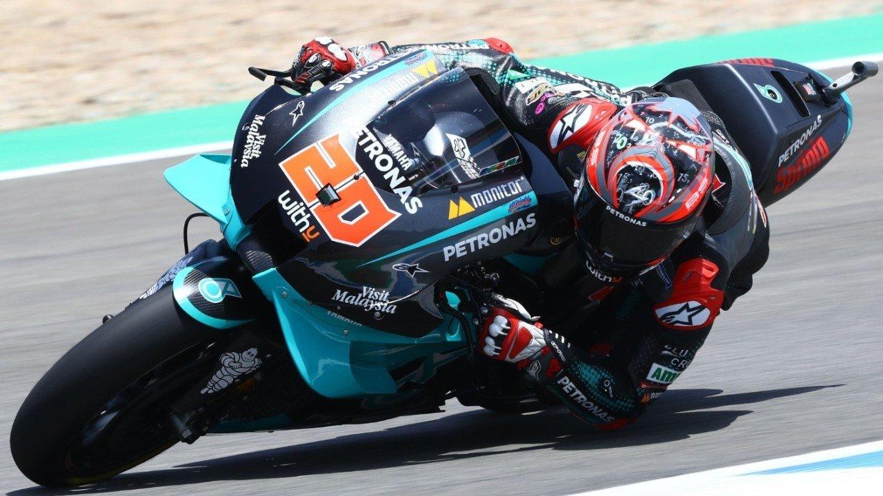 Primer triunfo de Quartararo en Jerez tras la fuerte caída de Marc Márquez
