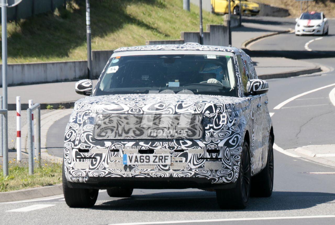 Avanza la puesta a punto del Range Rover 2022, fotos espía en Nürburgring