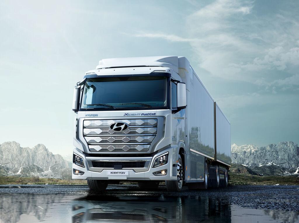 Suiza recibirá pronto los primeros camiones de pila de combustible de hidrógeno de Hyundai