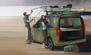 Volkswagen Caddy Mini-Camper, teaser de la nueva variante más lúdica