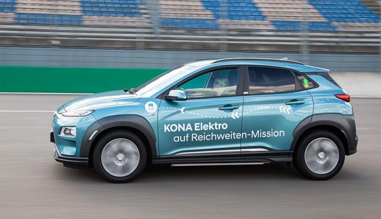 El Hyundai Kona Eléctrico bate un nuevo récord de autonomía