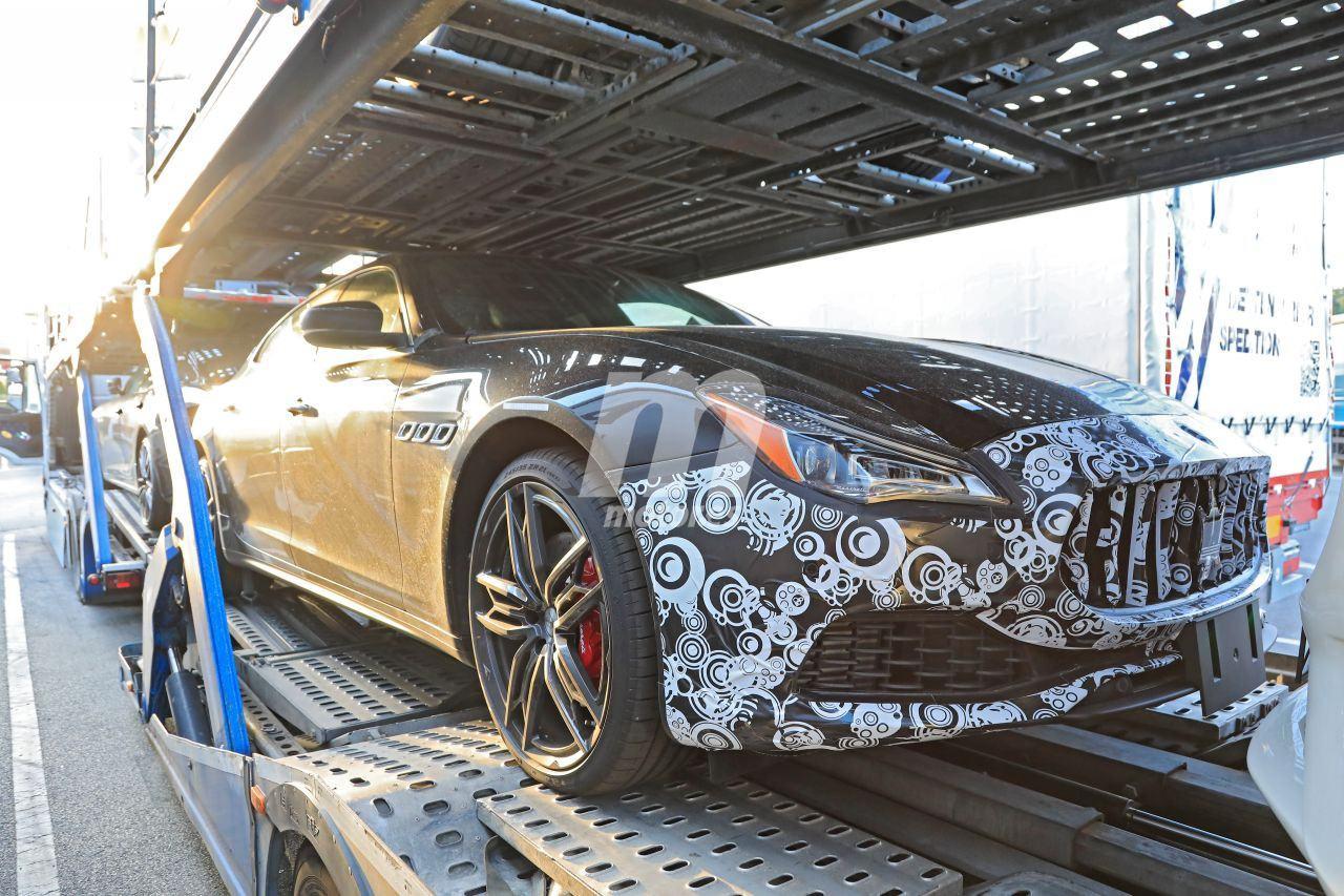 El Maserati Quattroporte facelift cazado con su configuración definitiva