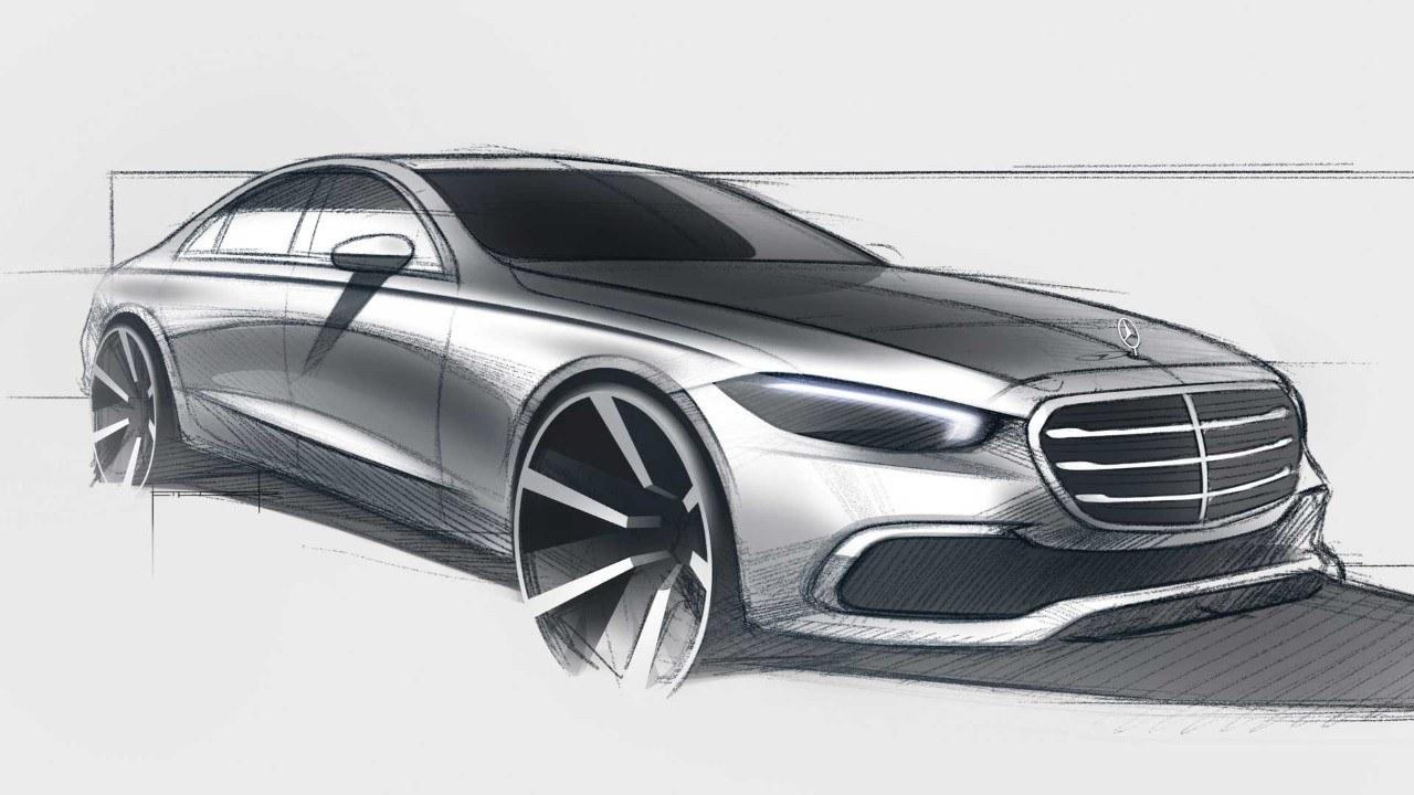 Mercedes desvela el diseño exterior del nuevo Clase S W223 con un boceto