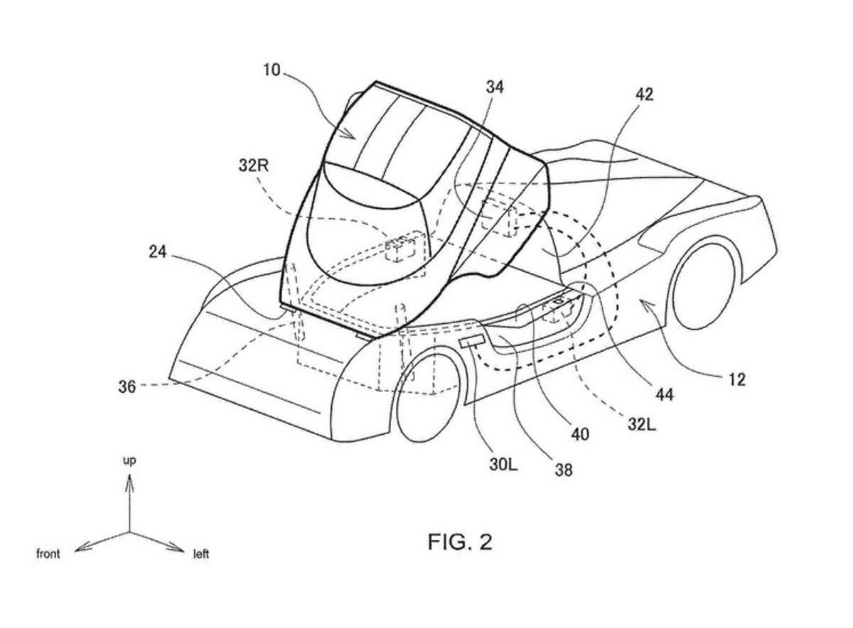 Toyota ha patentado un extraño techo tipo carlinga ¿Para qué?