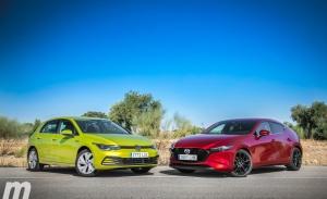 Comparativa Volkswagen Golf 8 vs Mazda3, duelo en la cumbre (con vídeo)