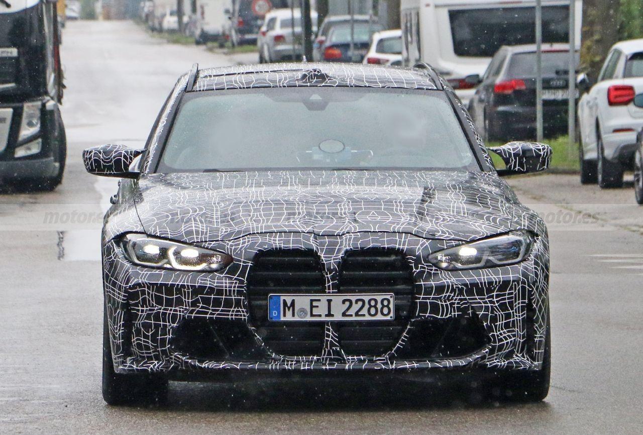 Nuevas fotos espía confirman la versión M Competition del BMW M3 Touring 2022
