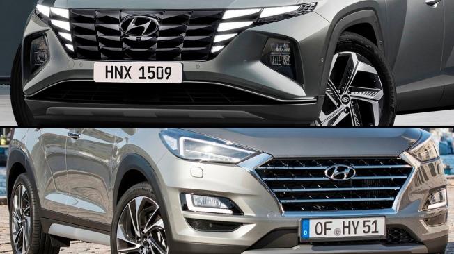 Comparativa del Hyundai Tucson - frontal