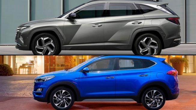 Comparativa del Hyundai Tucson - lateral