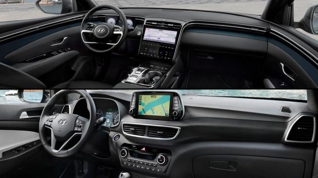 Comparativa del Hyundai Tucson - interior