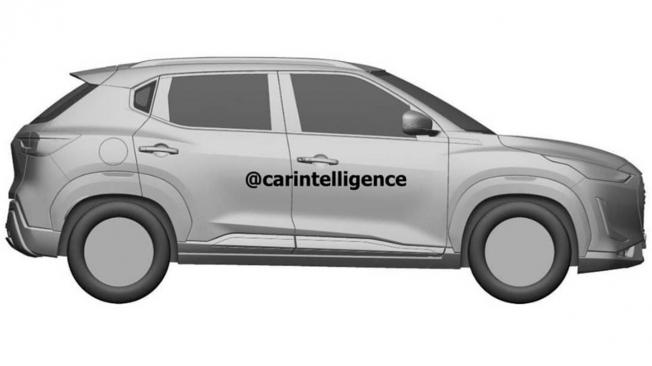 Nissan Magnite - patente lateral