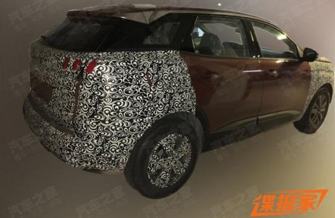Peugeot 4008 2021 - foto espía posterior