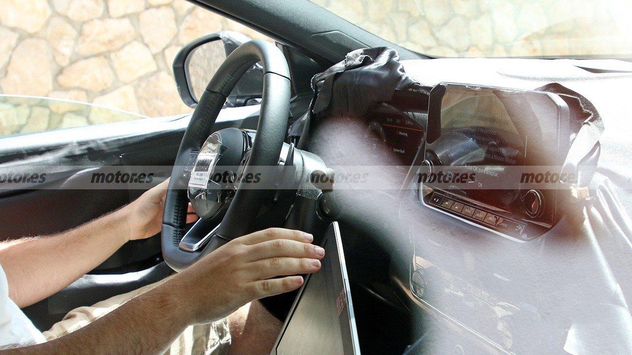 El interior del nuevo Nissan Qashqai 2021 al detalle en estas fotos espía