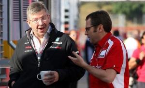 Ross Brawn y su nuevo jefe, Domenicali: «No se me ocurre un mejor sucesor de Carey»