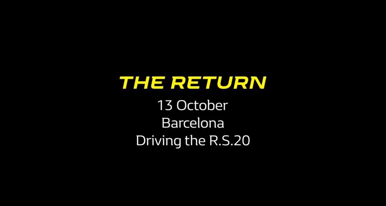 'The Return': Alonso vuelve a los mandos de un Fórmula 1 con Renault