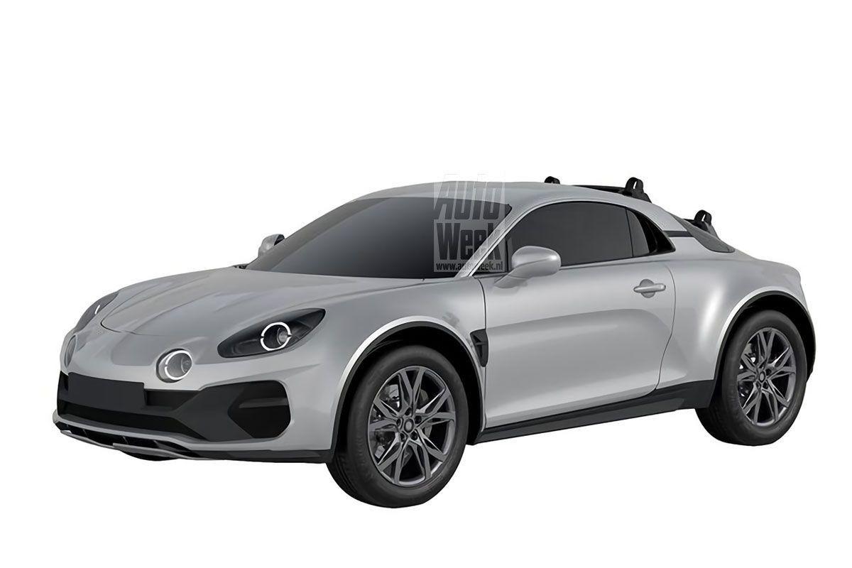 Una filtración del registro de patentes desvela cambios en el Alpine A110 Sports X Concept