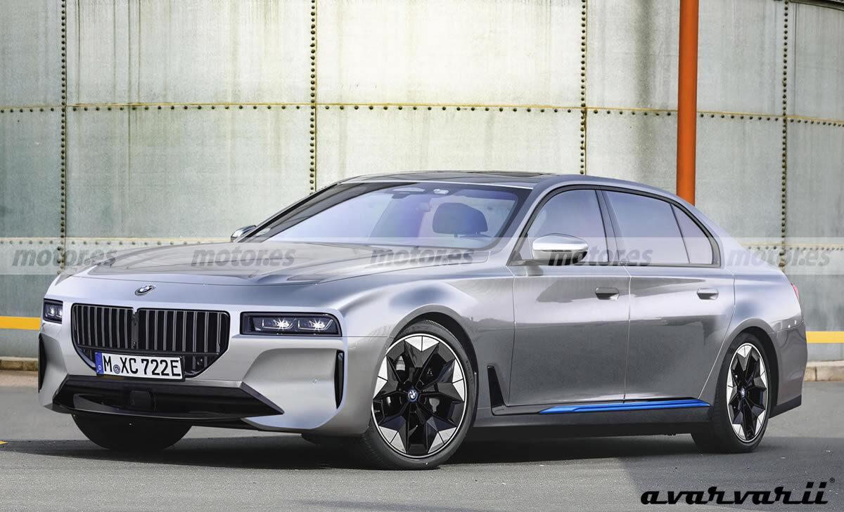 Recreación ilustrativa del futuro BMW i7 2023