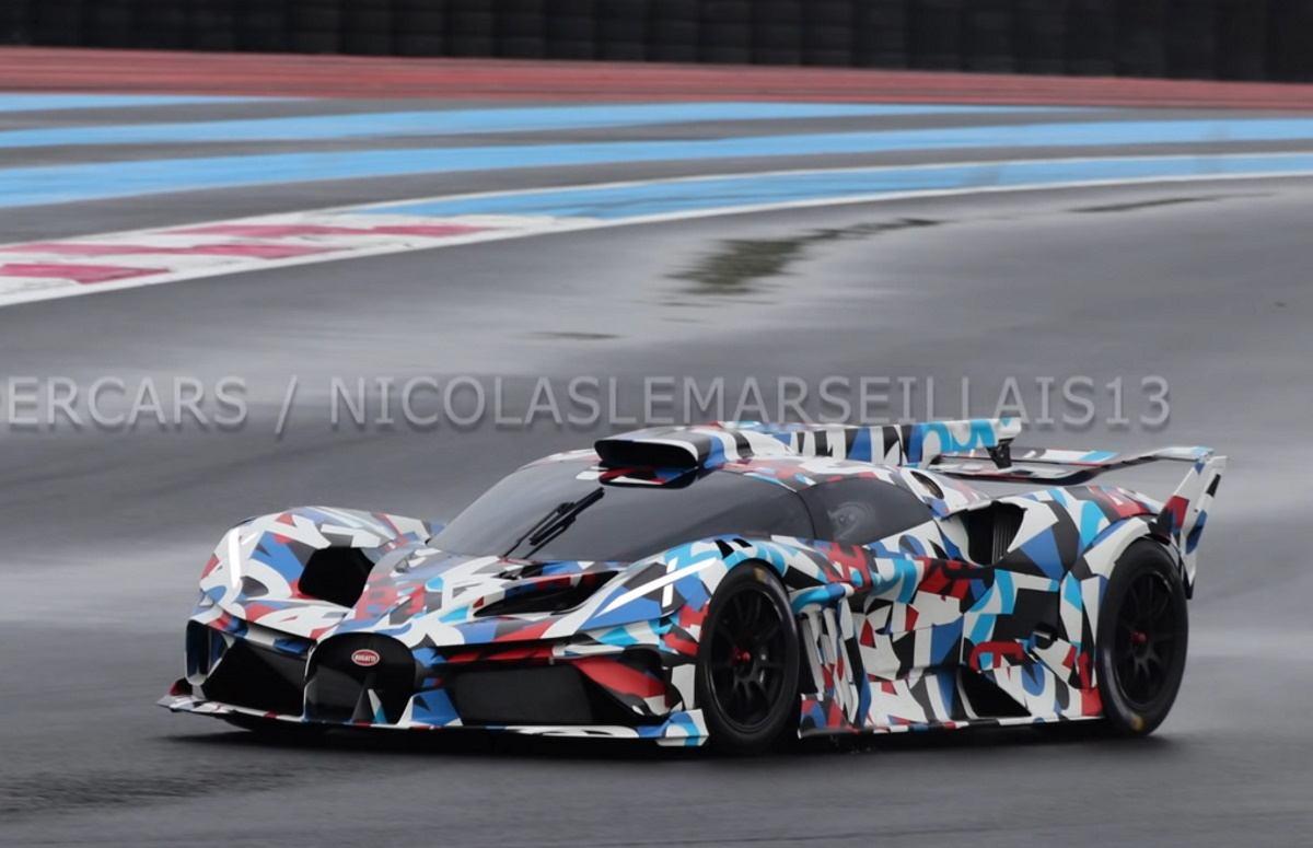 El misterioso nuevo modelo de pista de Bugatti se deja ver por primera vez [vídeo]