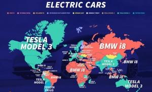Estos son los vehículos eléctricos más populares en cada país del mundo