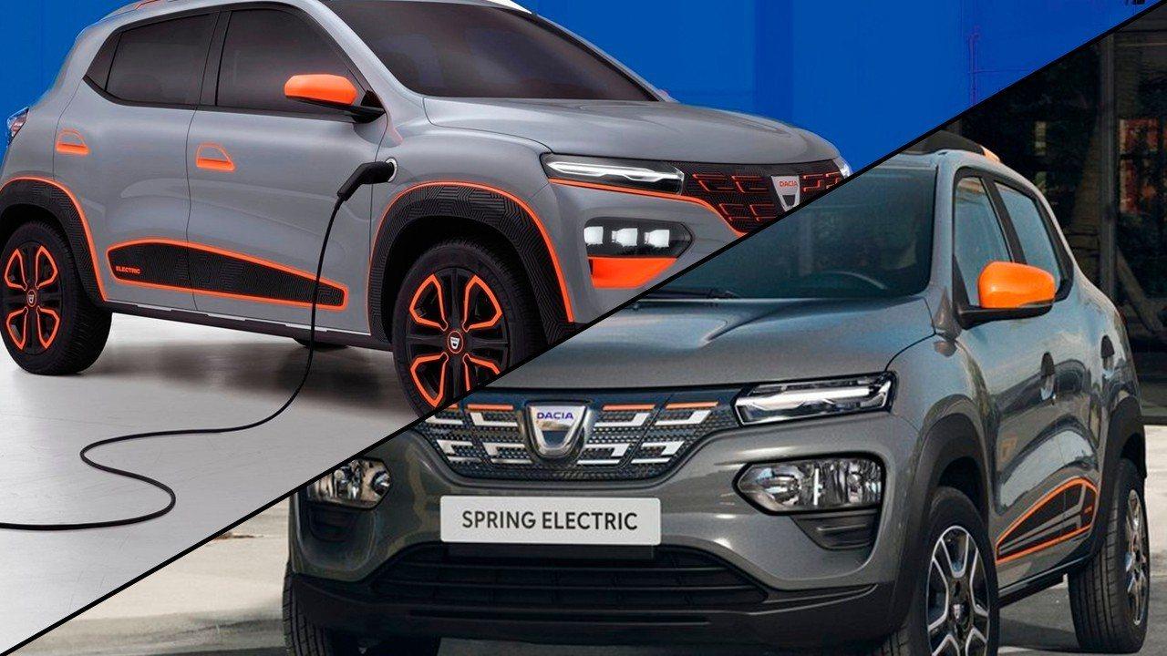 Dacia Spring, así ha sido la evolución del concept car al coche eléctrico de producción