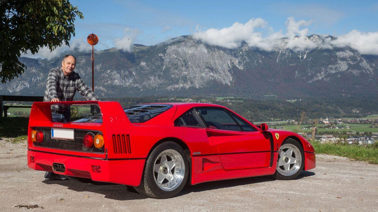 El impecable Ferrari F40 de Gerhard Berger a subasta