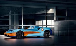 El McLaren Elva estrena la nueva decoración Gulf Racing de McLaren MSO