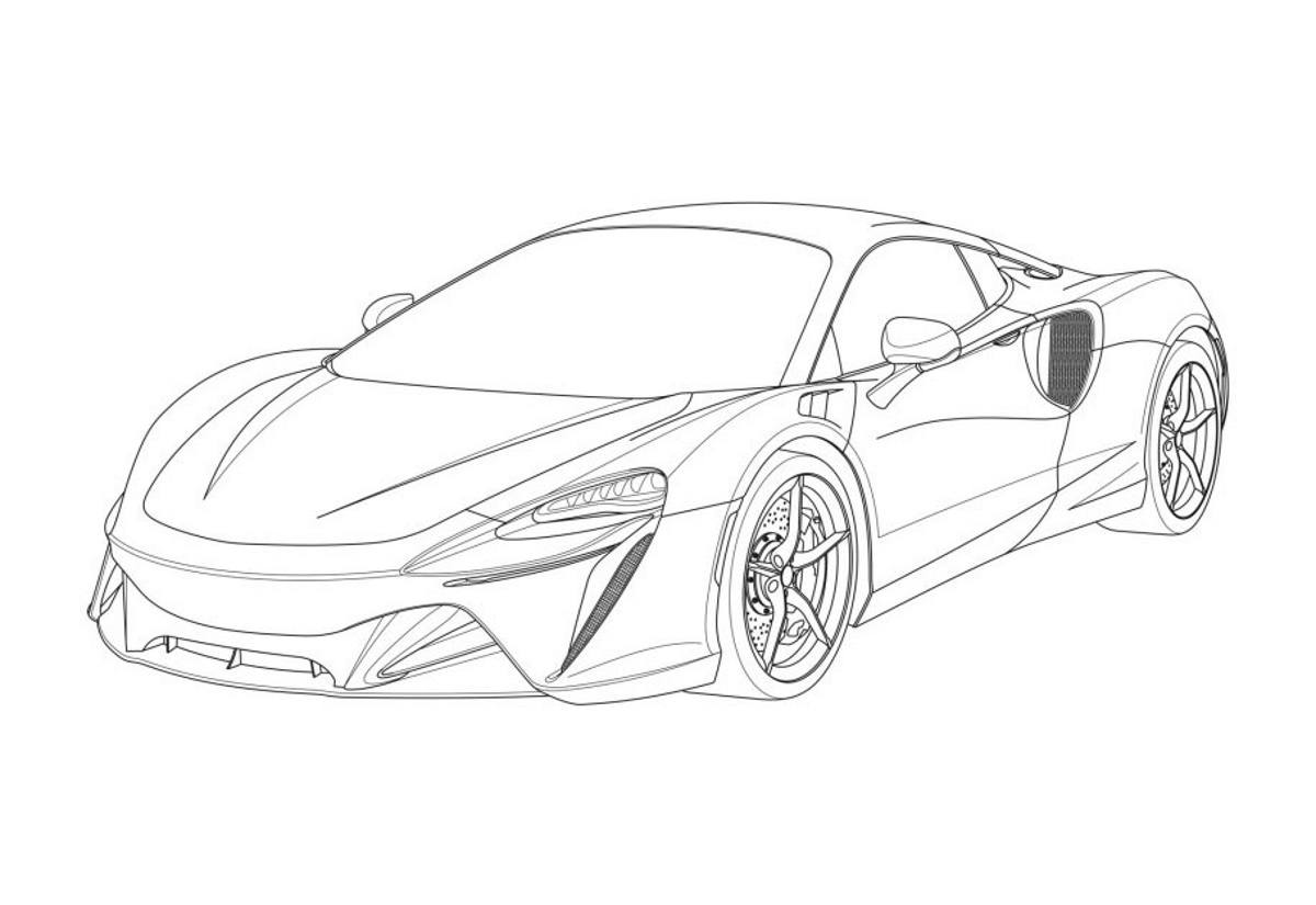 El nuevo McLaren V6 híbrido filtrado al completo gracias a sus patentes